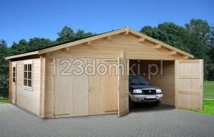 garaż dwustanowiskowy dla 2 aut samochodów
