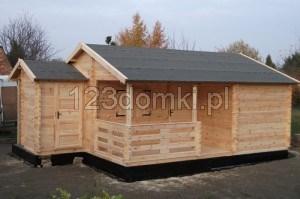 6x5 dom drewniany 25m2 z tarasem