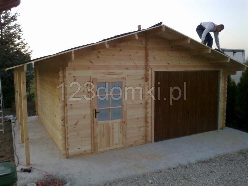 Garaż Drewniany Z Pomieszczeniem Gospodarczym Producent Domów I