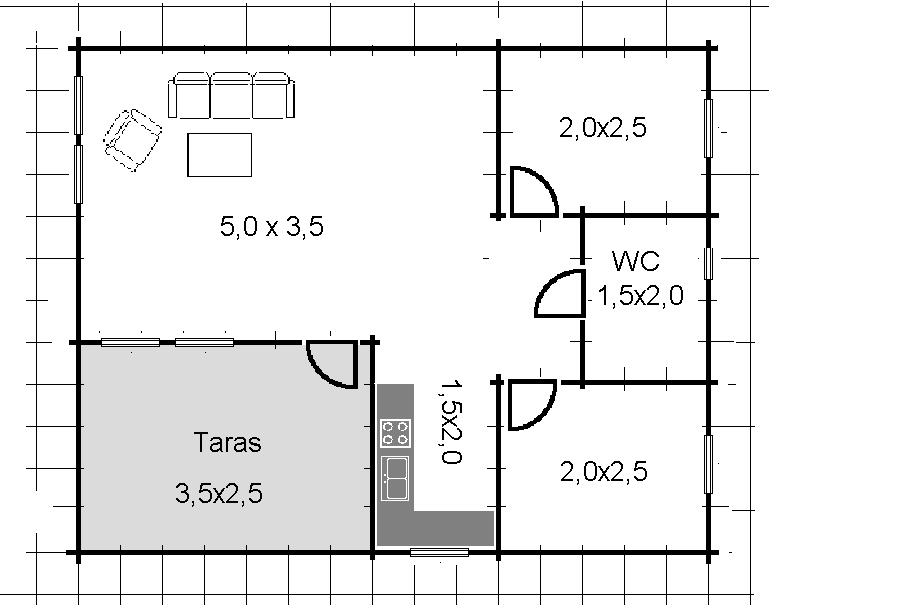 Wspaniały Domek letniskowy 8×7 – Producent domów i domków drewnianych CX81